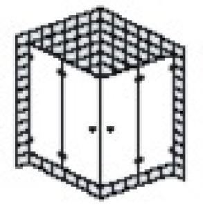DIANA L600 (Prime) Eckeinstieg 2-teilig rahmenlos