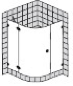 DIANA L600 (Prime) Viertelkreis 1 Tür rahmenlos