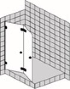 DIANA L600 Faltwand PT42 1 Tür für Nische