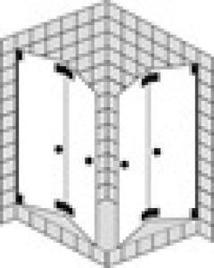 DIANA L600 Eckeinstieg PT44 Faltwand 2 Türen