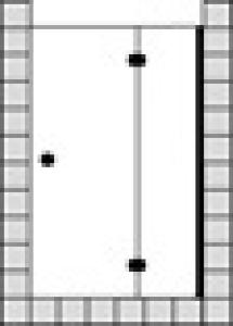 DIANA L600 (Prime) Pendeltür Nische mit Festfeld teilgerahmt