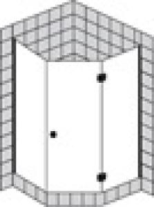 DIANA L600 Fünfeck 1 Tür teilgerahmt