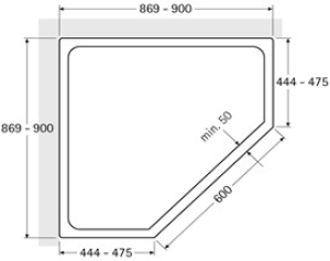 DIANA L600 Fünfeck 2 Türen teilgerahmt