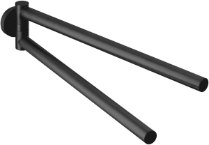 DIANA L100-Black Doppel-Handtuchhalter rund