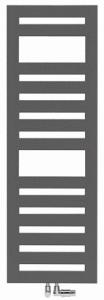 DIANA L100-Black Badheizkörper
