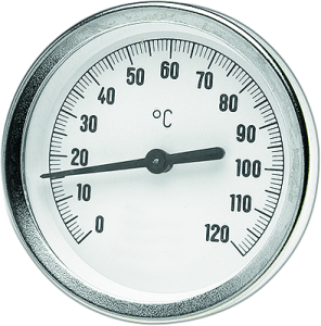 DITECH Bimetall-Zeigerthermometer Anschluss hinten