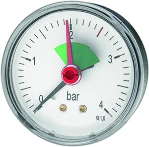 DITECH Heizungsmanometer Anschluss hinten