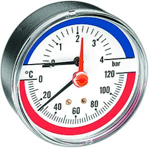 DITECH Thermo-Manometer Anschluss hinten