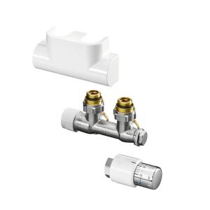 DITECH Ventil-Anschlussset mit Thermostat-Kopf